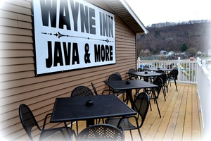 Outside Deck, The Wayne Inn, hotels honesdale pa