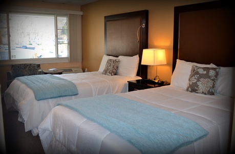 double bed, The Wayne Inn, hotels honesdale pa